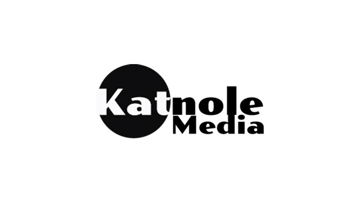 Katnole Media text and black circle
